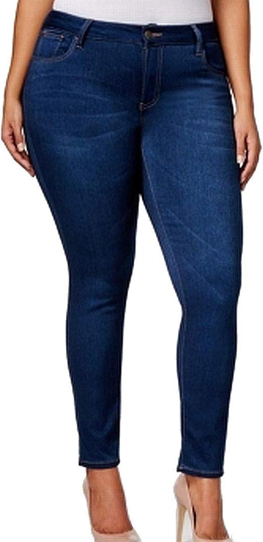 CelebrityPink Womens Plus Walker Denim Ankle Skinny Jeans bluee 16