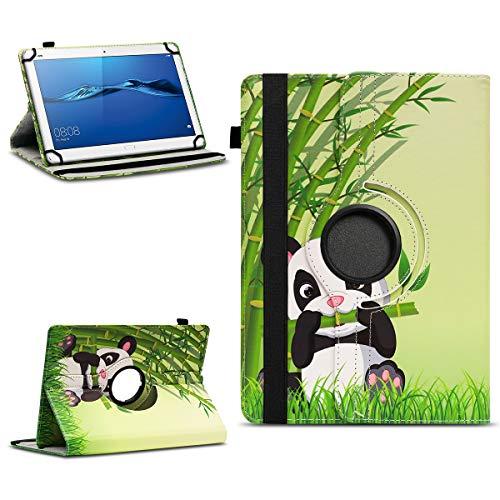 NAmobile Schutzhülle kompatibel für Huawei MediaPad T1 T2 T3 T5 10 Tablet Hülle Tasche Schutzhülle Hülle 360 Drehbar, Farben:Motiv 11