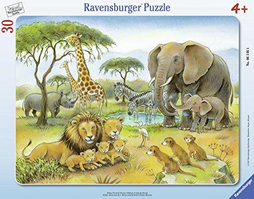 Ravensburger Kinderpuzzle 06146 - Afrikas Tierwelt - Rahmenpuzzle