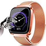 (1,3'IPS) Smartwatch Orologio Fitness Trakcer Smart Watch Cardiofrequenzimetro da Polso Impermeabile IP68 Contapassi Smartband Activity Tracker Sportivo Bracciale
