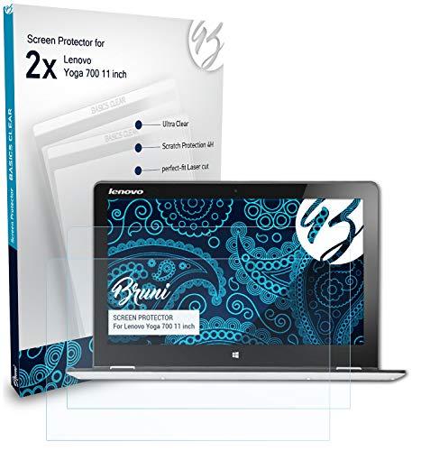 Bruni Película Protectora Compatible con Lenovo Yoga 700 11 Inch Protector Película, Claro Lámina Protectora (2X)