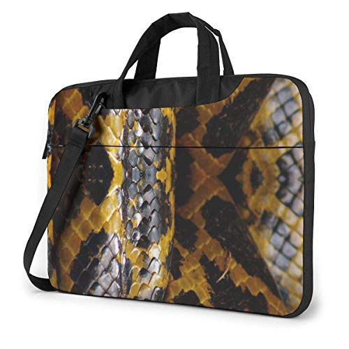 Yellow Snake Unisex Laptop Bag Messenger Shoulder Bag for Computer Briefcase Carrying Sleeve