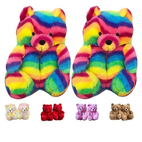 Teddy Bear Slippers Women's Plush H…