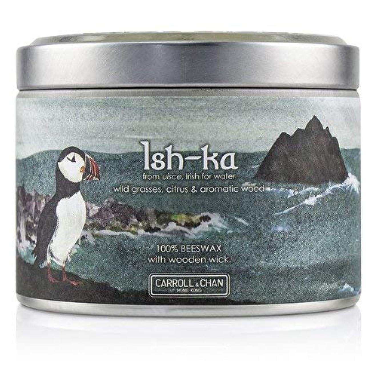 住所誓約学生キャンドル?カンパニー Tin Can 100% Beeswax Candle with Wooden Wick - Ish-Ka (8x5) cm並行輸入品