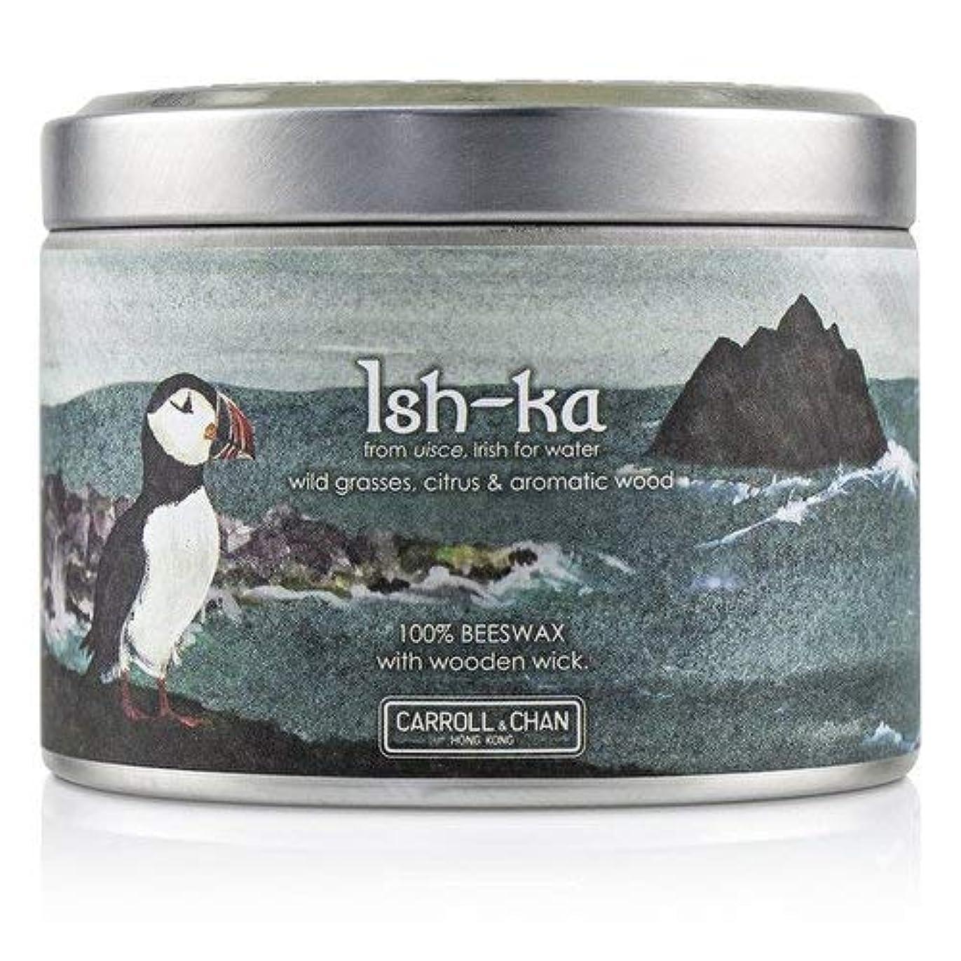 耐えられるケープ白雪姫キャンドル?カンパニー Tin Can 100% Beeswax Candle with Wooden Wick - Ish-Ka (8x5) cm並行輸入品