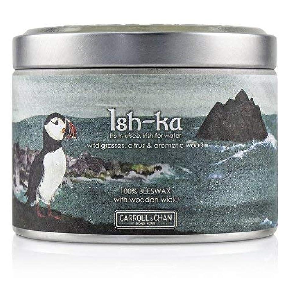 クランシーしなやか飲食店キャンドル?カンパニー Tin Can 100% Beeswax Candle with Wooden Wick - Ish-Ka (8x5) cm並行輸入品