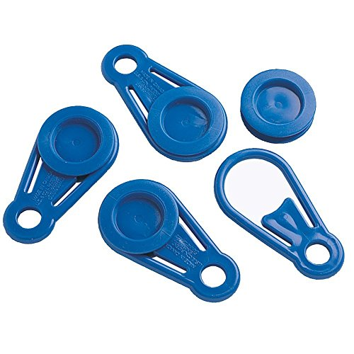 Dock Edge + Instant Grommet Tarp Holder - Blue (4 Pack), Dock Edge Line Holder