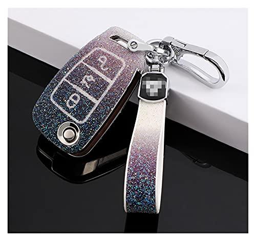 ZHANGMEI YMQ Store Diamond Starry Car Key Cover Protector Funda Shell Llavero...
