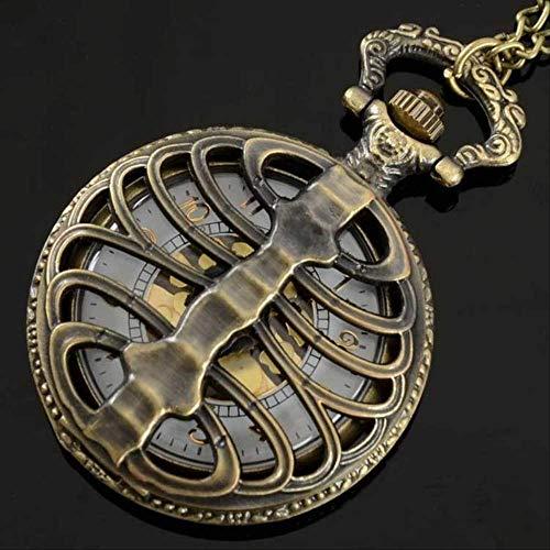 YYhkeby Pocket Watchull Hunter Cuarzo Grabado Fob Fob Retro Colgante Reloj de Bolsillo Regalo Kiakai (Color: Plata) Jialele (Color : Bronze)