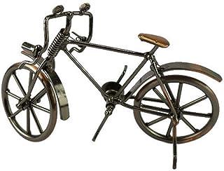 VOSAREA Modelo de Bicicleta de Hierro Adornos de Mesa de Bicicleta Vintage Regalo de Adorno Decorativo de Escritorio para Oficina en casa