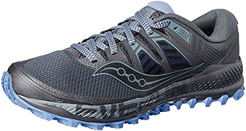 Saucony Women's Peregrine ISO Trail Running Shoe, Gunmetal, 10 M US