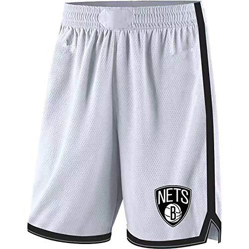 Pantalones cortos de baloncesto para hombre de la NBA Brooklyn Nets Kevin Durant Kyrie Irving Pantalones cortos para correr deportivos Pantalones cortos de entrenamiento para gimnasio Ropa informal