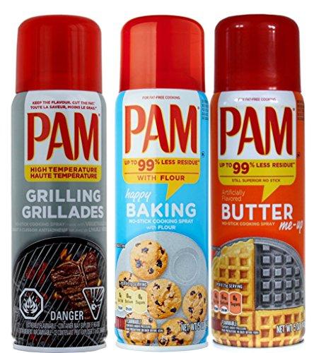 PAM Original Spray (3-Pack) PAM Grilling, PAM Baking, PAM Butter