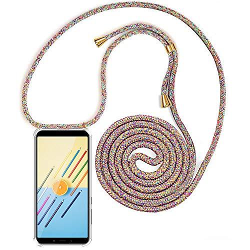 Carcasa de movil con Cuerda para Colgar Xiaomi Mi A2【Versión Popular 2019】 Funda para iPhone/Samsung/Huawei con Correa Colgante para Llevar en el Cuello -Hecho a Mano en Berlin