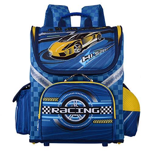 Protege el bolso de hombro para niños de la columna vertebral, mochila de dibujos animados a prueba de agua de gran capacidad, para niñas, niños, gran regalo de cumpleaños, grados 1-6,G