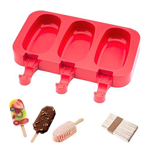 Eisformen Bpa Frei Oval Klassik Eisform Rund Rot Eisformen Silikon Mit Holz Popsicle Sticks beicemania