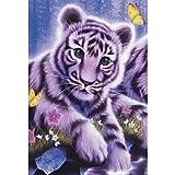 DHYED 5D DIY Diamante pequeño tigre redondo completo perforado mosaico Art estrás imagen