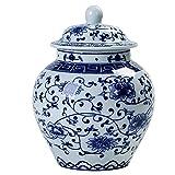 Wddwymll Jarrón de Porcelana Azul y Blanca 13×18.8cm,Jarrones Decorativos Modernos,Estilo de China Ming,Florero de Cerámica Jarrón