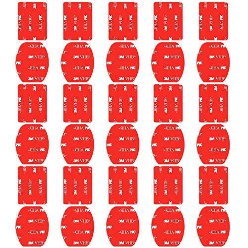 kitway Kit de Accesorios para el Casco 12x Soporte Superficie + 12x Adhesivos Pegatinas para GoPro Hero 7/6/5/4/3+/3 SJ4000 SJ5000 Cámaras de Acción