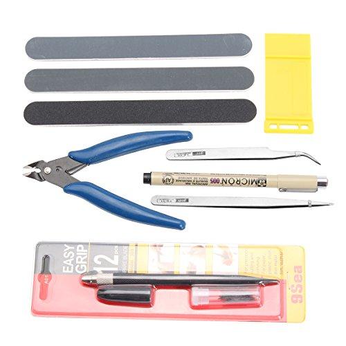 Wchaoen Gundam Modeler Basic Tool Kit für die Herstellung von professionellen Werkzeugen für den Fahrzeugmodellbau Werkzeugzubehör