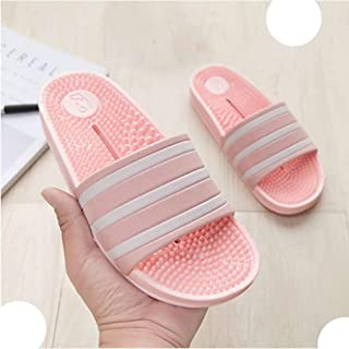 Massage Slippers Women Flip Flops Summer Shoes Sandals Open Toe Sandal Womens Flat Casual Bedroom Slippers (Color : E, Shoe Size : 7)