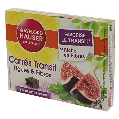 Gayelord Hauser Carres de Transit Figues et Fibres Diététique 12 Carrés