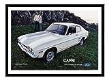iPosters Ford Capri 1971Auto Werbung schwarz drucken