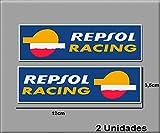 Ecoshirt 8R-SDX0-ZXAW Pegatinas Stickers Repsol Racing Ref: R182 Aufkleber Autocollants Adesivi Moto GP Decals Motorcycle, 12X3.5 cm