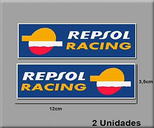 Ecoshirt 8R-SDX0-ZXAW Sticker Repsol Racing Ref: R182 Aufkleber Motorrad GP Decals Motorcycle 12 x 3,5 cm