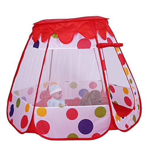 Speeltent voor kinderen Opvouwbaar Baby Kinderen Speelhuisje Draagbaar speelgoed Spel Speelkamer Jongens Meisjes Verjaardagscadeau voor binnen en buiten(Roze)