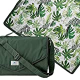 Little Unicorn – Tropical Leaf Indoor/Outdoor Blanket | 100% Polyester | Water Resistant Simple Clean | Wipeable Material | Easy to Carry | Babies and Toddlers | Machine Washable | 5' x 5'