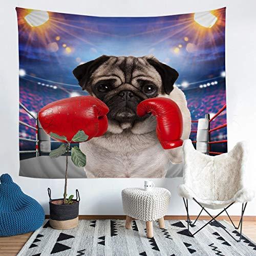 Bonito tapiz para colgar en la pared, diseño de animados, para niños, niñas, amantes de animales, decoración de pared, atleta competitivo, arte de pared para dormitorio, sala de estar, 152 x 223 cm