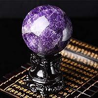 透き通ったガラス球 天然アメジストボール飾りクリスタルボールラッキー繁栄 水晶球 (Size : 8cm)