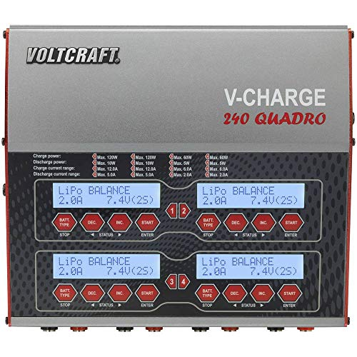 VOLTCRAFT V-Charge 240 Quadro Modellbau-Multifunktionsladegerät 12 V, 230 V 12 A LiPo, LiFePO, LiIon, LiHV, NiCd, NiMH,