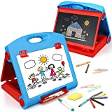 STEAM Life Tabletop Easel for Kids - Art Easel for Toddler - Chalkboard White Board for Kids - Dry Erase Table Top Easel for Kids - Portable Desktop Easel and Art Set for Toddlers and Kids 3 4 5 6 7