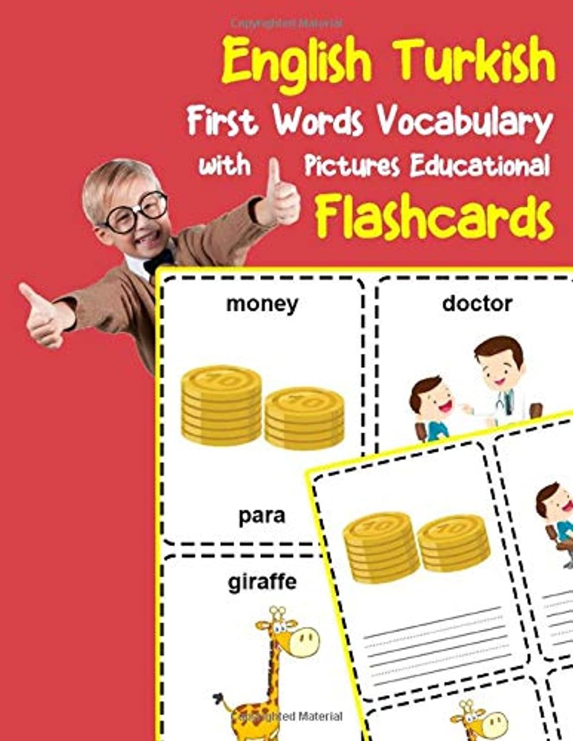 ウルルナイロンパズルEnglish Turkish First Words Vocabulary with Pictures Educational Flashcards: Fun flash cards for infants babies baby child preschool kindergarten toddlers and kids (Flashcards for Toddlers)