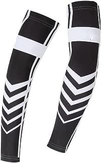 Spoz Pro Outdoor Sport White Black Arm Sleeves