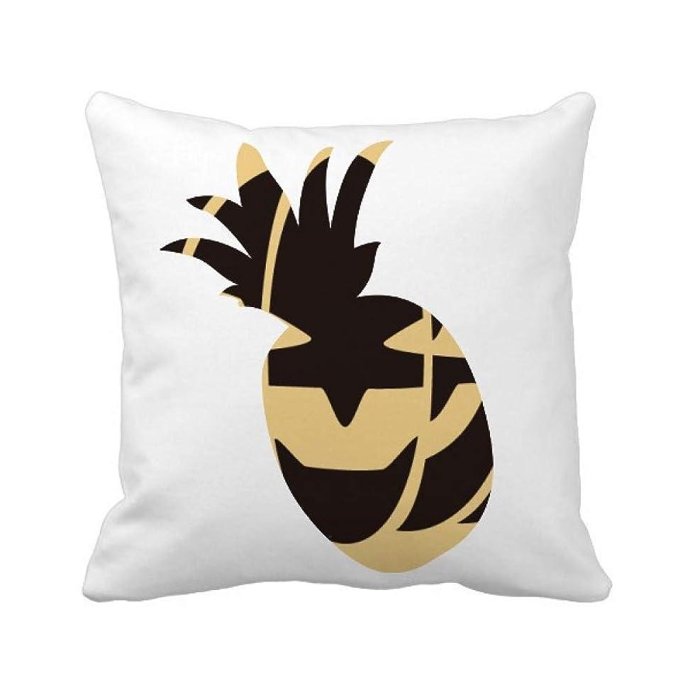 ペースおもてなしジャベスウィルソンハロウィーンのカボチャの黒の笑顔 パイナップル枕カバー正方形を投げる 50cm x 50cm