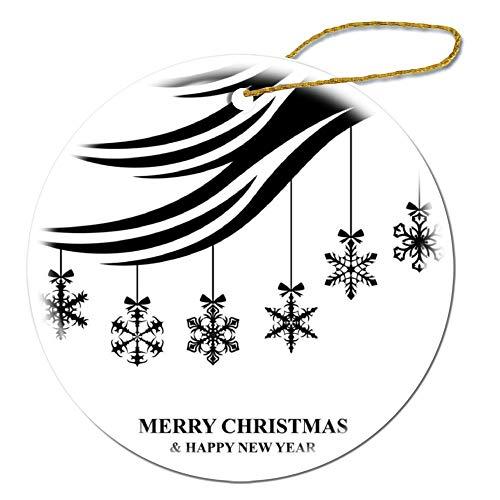 wendana Weihnachtskarte mit hängenden Schneeflocken, Weihnachtskugeln, Porzellan, Weihnachtsschmuck für Weihnachtsbaumdekoration, Andenken, Ornament, Weihnachtsgeschenke 2019 für Kinder