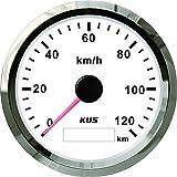 KUS GPS Speedometer Odometer Gauge Meter 0-120KM/H for Auto 85mm with Backlight