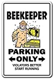 Beekeeper Parking Bumble Honey Hive Bees Insects Blech