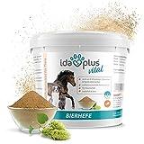 Ida Plus – Pura Polvere di Birra – Integratore Alimentare per Pelle e Pelliccia Lucida – Prodotto Naturale per Animali – Cavalli, Cani, Gatti – Pratico Cucchiaio dosatore Incluso (1,5 kg)