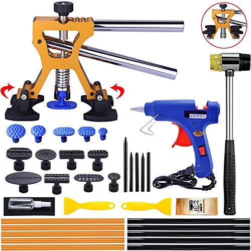 Randalfy Kit di riparazione per ammaccature di carrozzeria, estrattore di ammaccature da auto, con estrattore di ammaccature dorato, per la rimozione delle ammaccature