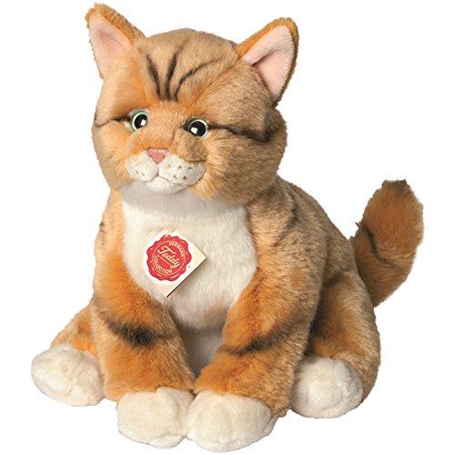 Teddy Hermann 90699 Katze rot getigert 30 cm, Kuscheltier, Plüschtier