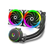 Liquid Cooler All-in-One, Performance Dual Addressable RGB Fans with Software...