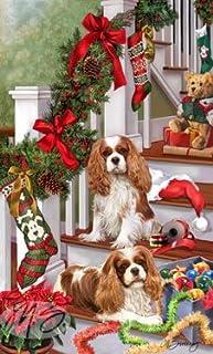 かわいいキャバリア ブレンハイム Blenheim クリスマス ツリー! クリスマスカード☆プレゼントにも!