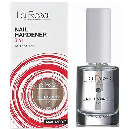 La Rosa Nail HARDENER 3 in 1, STRENGTHENING Nail POLISH Treatment,...