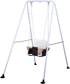 Taleco Gear Baby Swing, Kids Toddler Swing, Canvas Baby Swings for Infants, Baby Swing Outside with Cushion