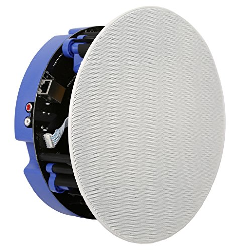Wireless Lautsprecher aktiv für den Einbau in die Decke mit integriertem Verstärker und Player, Set mit 1xAktivteil und 1xPassivteil