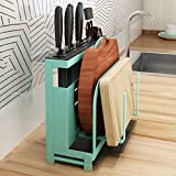 Cabilock Knife Block Kitchen Knife Holder Countertop Knife Storage Lid Rest Pot Cover Rack Cutting Board Holder for Kitchen Cutlery Storage